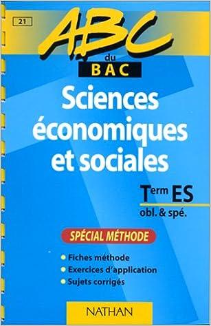 Livre gratuits ABC du bac, sciences économiques et sociales - méthode pdf, epub