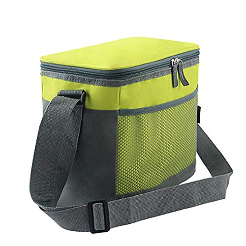 Insulated Cooler Lunch Bag for Office Work Camping Sports Beach Travel, Breastmilk Cooler and Baby Bottle Bag Outdoor Picnic Tote Bag with Shoulder Strap Green