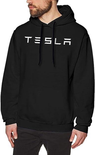 Imagen deADUUOS Teslass Logo Mens Long Sleeve Sweatshirts Mans Hoodies Black