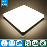 Oeegoo 24W LED Ceiling Lights Bathroom Ceiling Light with IP44 Waterproof Natural White 4000K 2050LM Lamps for Bathroom, Bedroom, Hallway, Corridor, Kitche
