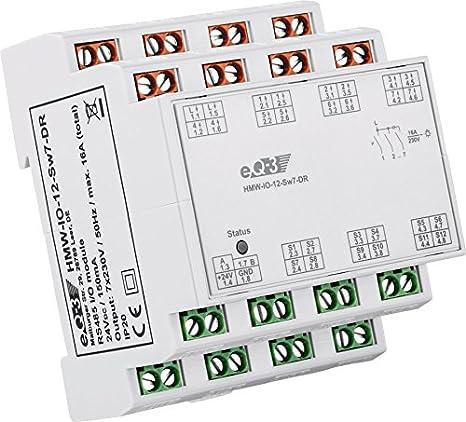Homematic Wired Rs485 I O Modul 12 Eingänge 7 Ausgänge Hutschienenmontage Baumarkt