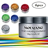 Spdoo 6 Colors Unisex Multi-Color Temporary Modeling Fashion DIY Hair Color Wax Mud Hair Dye Cream