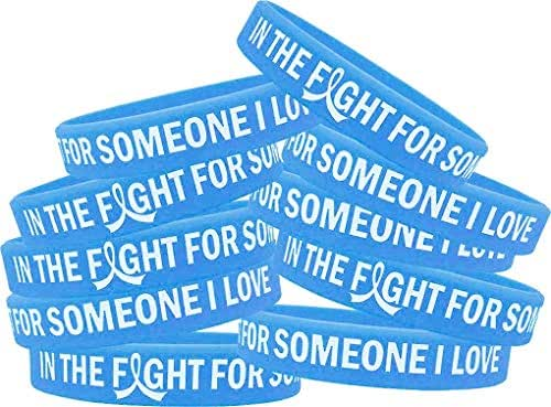in The Fight for Someone I Love Silicone Wristband Bracelet 10-Pack (Assorted Colors)
