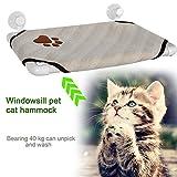 Keland Cat Pet Cot Window Perch Hammock soft Cozy Kitty Window Bed Sunny Hanging Shelf With 4 Suckers