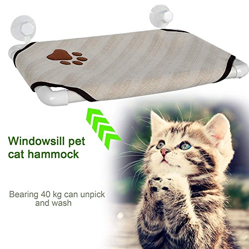 keland cat pet cot window perch hammock soft cozy kitty window bed sunny hanging shelf with