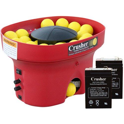 Heater Sports Crusher Professional Mini Lite-Ball Pitching Machine with BONUS Steel Tripod & 8 Hour Battery by Heater Sports