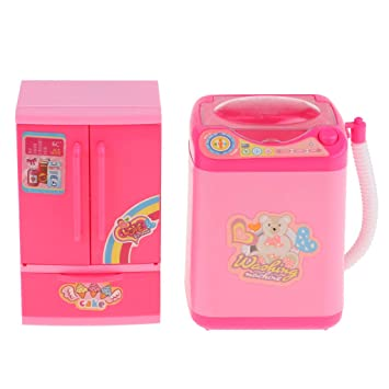 Amazon.es: P Prettyia Mini Refrigerador con Lavadora Accesorios ...