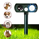 Dog Repellent, Outdoor Solar Powered and Weatherproof Ultrasonic Dog/Cat/Mosquito Repeller