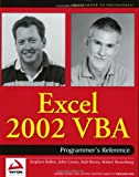 Excel 2002 VBA, Rob Bovey and Stephen Bullen, 0764543717