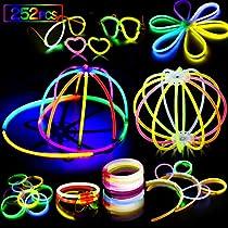 AMZJUPWM Barras Luminosas, 490pzas (20 cm) múltiples Colores: Amarillo, Rojo, Blanco, Ideal para Eventos: Fiestas Infantiles, Bodas, cumpleaños.