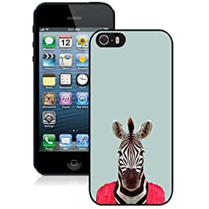 New Pupular And Unique Designed Case For iPhone 5 5S With Zebra Funny Animal Portrait Black Phone Case