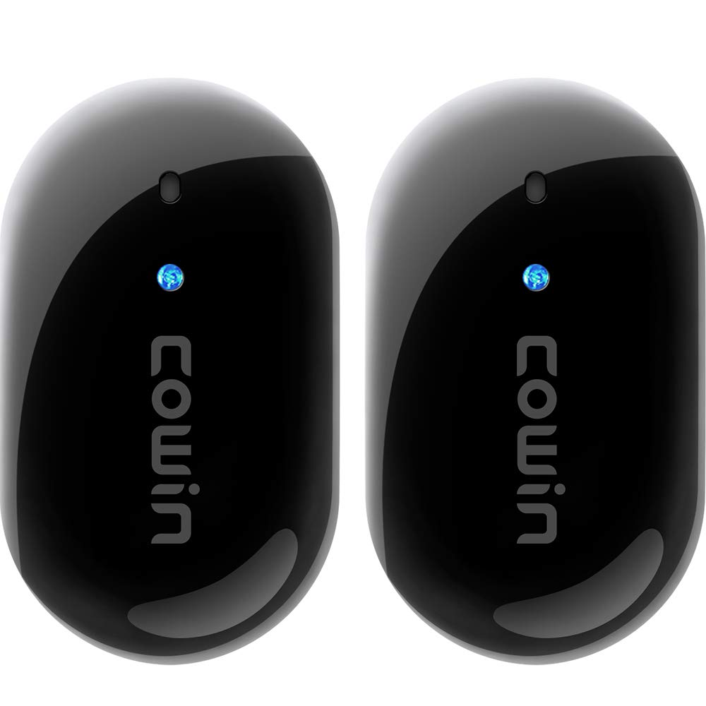 COWIN BT318 Active Noise Cancelling Earbuds True Wireless Earbuds with Microphone Bluetooth 5.0 Earbuds Stereo Headphones Premium Sound with Deep Bass 20H Playtime for Sports Travel Work, Black
