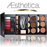 Aesthetica Cosmetics Contour Series – Contouring and Highlighting Library Set – Includes Aesthetica Cream, Powder, Brow & Lip Contour Kits – Suitable for All Skin Tones – Vegan & Cruelty Free