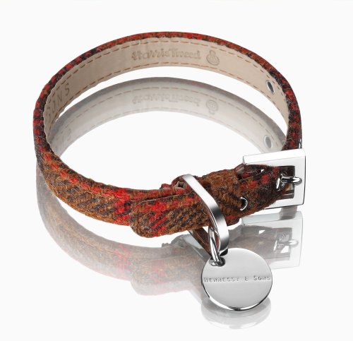 hennessy-harris-tweed-and-large-leather-dog-collar-rust-brown
