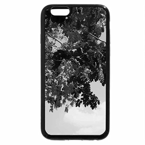 iPhone 6S Case, iPhone 6 Case (Black & White) - Flowers and sky