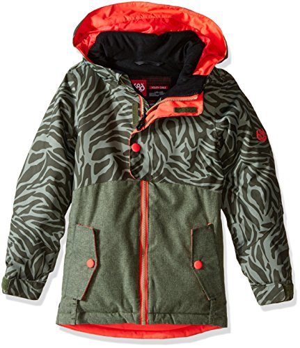 686 Girls Scarlet Insulated Jacket, Tiger Army Print, Medium