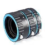 Neewer 3 Pieces Metal Auto Focus Macro Extension Tube Set 13mm,21mm,31mm for Canon EOS EF EF-S Lens DSLR Cameras,such as Canon 7D Mark II,5D Mark II III IV,1300D,1200D,750D,700D,600D,80D,70D,60D(Blue)