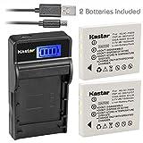 Kastar Battery (X2) & SLIM LCD Charger for HP LI40 Q6277A Q2232-80005 Photosmart R742 R742v R742xi Digital Cameras