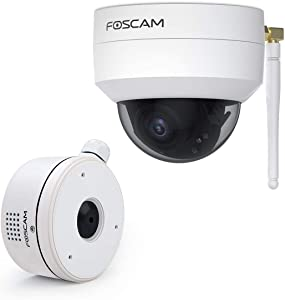 4MP Outdoor Security Dome Camera VZ4 with FABD4 Stainless Steel Waterproof Junction Box with External Speaker for VZ4