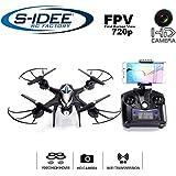 s-idee 01606 S30CW Quadrocopter Wifi verstellbare HD Kamera über den Sender FPV Höhenstabilisierung, Headless Mode VR möglich, Drohne 360° Flip Funktion, 2.4 GHz mit Gyro, 4-Kanal, 6-AXIS System Drone mit Camera 720p
