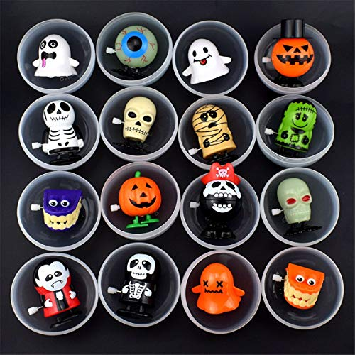 ICCQ Skeleton Ghost Halloween Surprise Egg Clockwork Wind Up Toy Kid Party Favors -