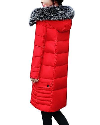 Chaqueta Parka Abrigos Elegantes con Capucha Abrigo de Invierno para Mujer
