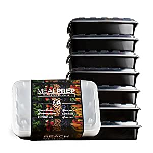 Amazon Com Meal Prep Containers Stackable Plastic