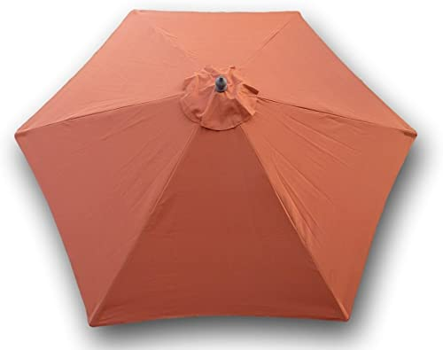 Formosa Covers 9ft Umbrella Replacement Canopy 6 Ribs in Terra Cotta Canopy Only