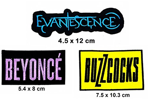 Rock Heavy Music_Set Evanescence Beyonce Buzzcocks Music Metal Punk rock patch Iron on Logo Vest Jacket cap Hoodie Backpack Patch Iron On/sew on - Diy Beyonce Costume