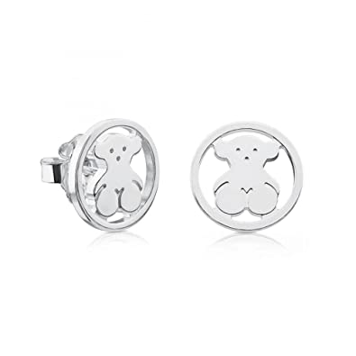 436eb4ff53ee Image Unavailable. Image not available for. Color  TOUS Large Camille Bear  Sterling Silver Stud Earrings