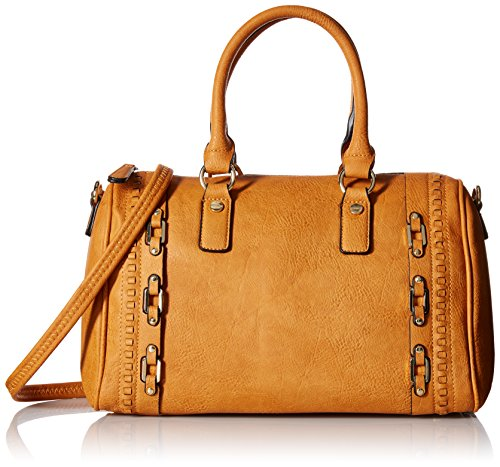 MG Collection Bowler Tote Bag, Caramel, One Size