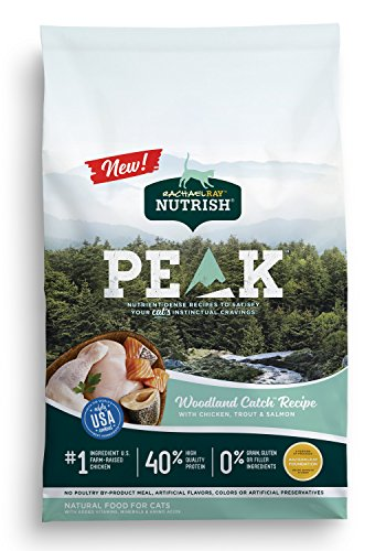 (Rachael Ray Nutrish Peak Natural Dry Cat Food, Grain Free Woodland Catch Recipe With Chicken, Trout & Salmon, 12 Lbs)