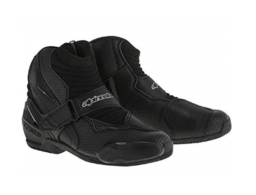 Black Alpinestars Motorcycle Boots SMX-1 R Vented Size 44