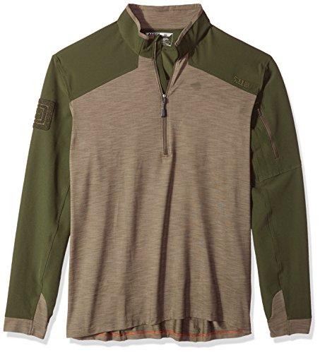 - 5.11 Men's Rapid Response Quarter Zip Shirt, TDU Green, X-Large