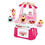 Adorable Pink Mini Cupcake Maker Kitchen Accessory Set Kids Pretend Toys-1Set/34pcs