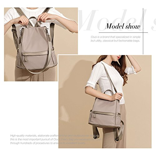 Women Backpack Purse Nylon Fashion Casual Shoulder Bag Lightweight Water Resistant School Backpack gray by Cluci (Image #1)
