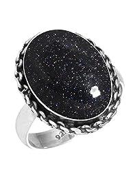 Solid 925 Sterling Silver Gemstone Handmade Ring for Women