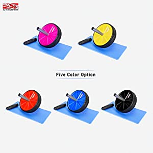 Arltb Ab Wheel Roller (5 Colors) with Free Knee Mat and Anti Slip Handles and Storage Box Perfect Abdominal Core Carver Fitness Workout for Abs Exercise and Strengthen Your Abs and Core
