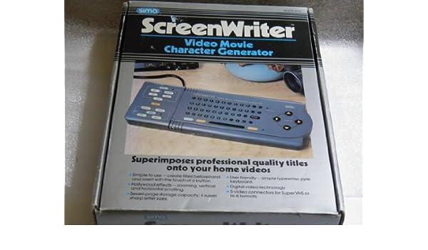 ScreenWriter - Video Movie Character Generator Model SCG By
