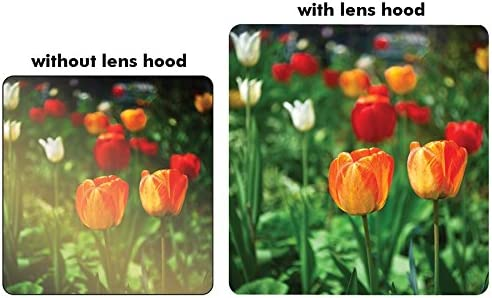 62 mm Ultraviolet Filter /& 62 mm Lens Hood 62MM UV Filter 62mm Tulip Lens Hood for Sigma 18-200mm F3.5-6.3 DC