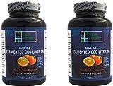 Blue Ice Fermented Cod Liver Oil – ORANGE Flavor – 120 Capsules – 2 Pack