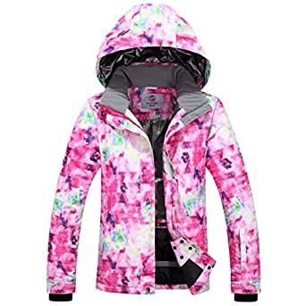Amazon.com: OLEK Womens Ski Jacket Waterproof Hooded