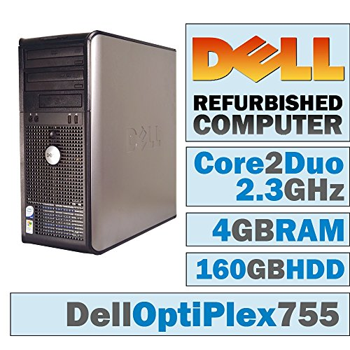 Dell OptiPlex 755 MT/Core 2 Duo E6550 @ 2.33 GHz/4GB DDR2/160GB HDD/DVD-RW/WINDOWS 10 HOME 64 BIT