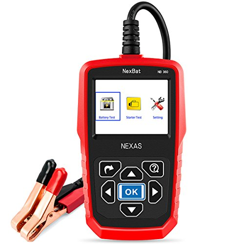 12V/24V Battery Tester NEXAS NB360 Directly Check Starter & Charging System 100-2000 CCA Battery Analyzer For Trucks / Motorcycle / Car
