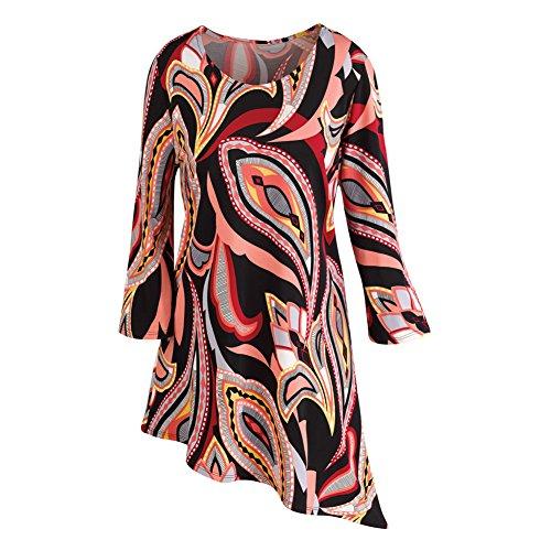 Hippie Tunic Shirt (Women's Tunic Top - That 70'S Boho Chic Asymmetrical Shirt -)