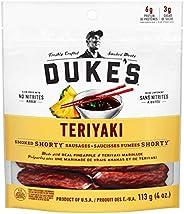DUKE'S Smoked Shorty Sausages - Teriyaki (Pack of 8), Black, 113g (Pack o