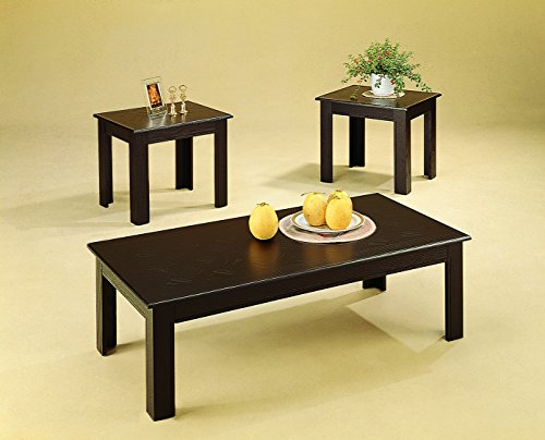 3-piece Parquet Occasional Table Set Cappuccino
