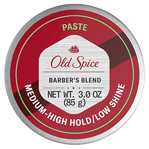 Old Spice Hair Styling Paste for Men, Medium-High Hold/Low Shine, Barber's Blend Infused with Aloe, 3 Ounce