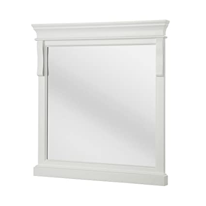 Framed Wall Mirror In White