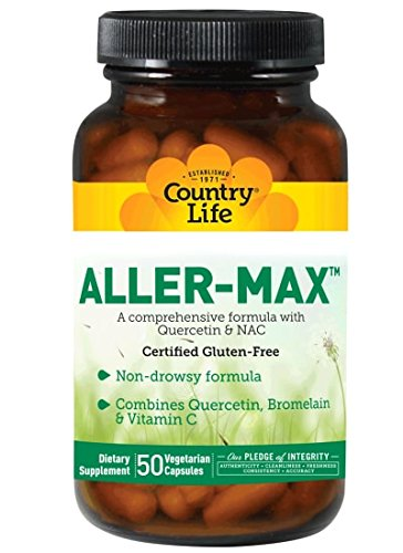 - Country Life Aller-Max Non-Drowsy - with Quercetin and NAC - 50 Vegetarian Capsules